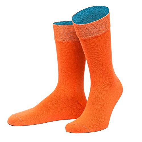 von Jungfeld - Herren Socken/Strumpf Herrensocken Baumwolle 1 Paar 42-44 orange