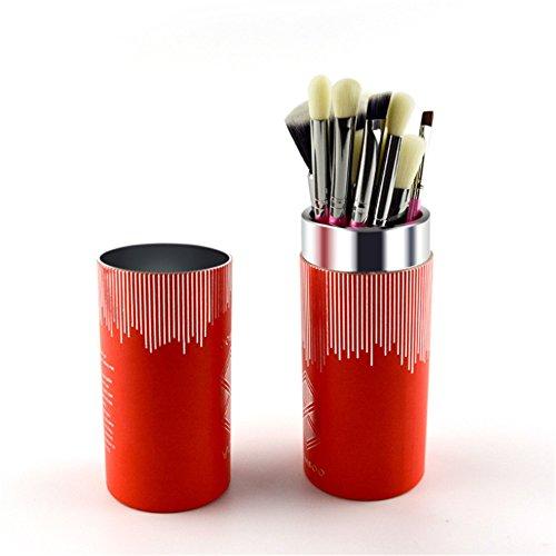 YLiansong Pinceau Fond de Teint, Maquillage Brush Set 8 Pcs Maquillage de Visage Brosses Maquillage Brush Set idéal pour Le modelage, l'ombrage (Couleur : Noir)