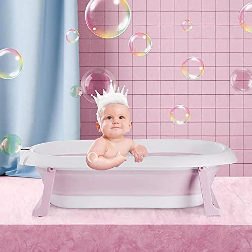 Bañera De Bebé Para Recién Biónico Asiento De Bañera Plegable Para Niños Ahorre Espacio Bañera De Bebé Plegable Con Orificio De Drenaje...