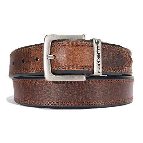 Carhartt Reversible Belt, Brown/Black with Nickel Roller Finish, 46