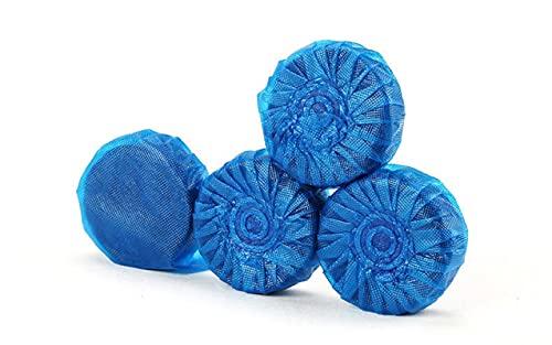 Bloques limpiadores de inodoro de 5 piezas, desodorante, limpieza antical de larga duración, agua espumosa y transparente, aroma a limón, azul