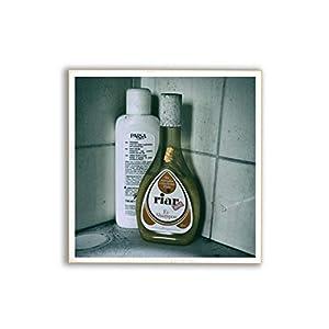 Ei-Shampoo, Badewanne, Badezimmer,Foto auf Holz, im Quadrat, 13 x 13 cm, Lost Place, marode