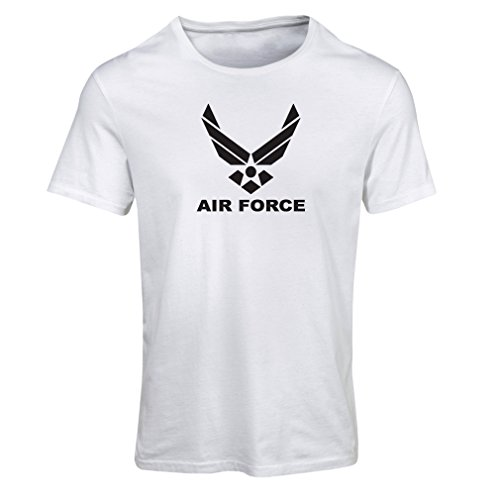 lepni.me Camiseta Mujer United States Air Force (USAF) - U. S. Army, USA Armed Forces (Large Blanco Negro)