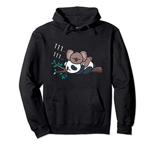 Panda Tshirt donne bambini uomini Regalo Panda Koala Felpa con Cappuccio