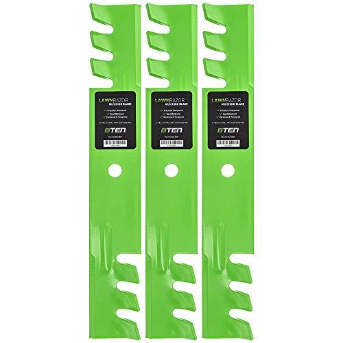 8TEN LawnRAZOR Mower Blade for Ferris IS1500Z 5020843 Exmark 1520843 103-2527 Ariens 4919100 Mulching 3 Pack