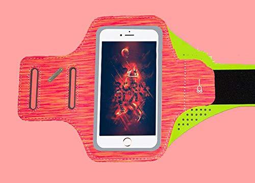 JINRU Sport Armband-Fingerprint Touch, Für alle Smartphones, ideal für Laufen, Workouts oder Jede Fitness-Aktivität,vibrantred