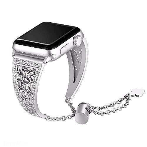 N/B Uhr Armband Ersatz Armband Armband Armband Diamant Strass Armband 38 40MM Silber