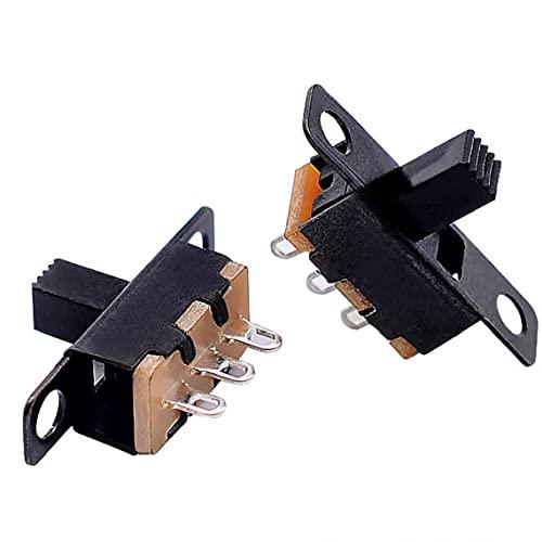 TOSSPER 1pc Micro Interruptor Deslizante 3 Pin 2 Posición 1p2t On-Off del Interruptor Eléctrico Práctica Asa De Herramientas Home Accesorios