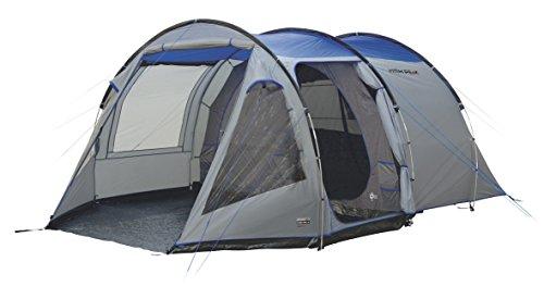 High Peak Tunnelzelt Alghero 4, 4 Personen Campingzelt mit Wohn-/Stauraum, herausnehmbarer Zeltboden, Festivalzelt mit Stehhöhe, großes Familienzelt mit 2 Eingängen, doppelwandig, 4.000 mm wasserdicht