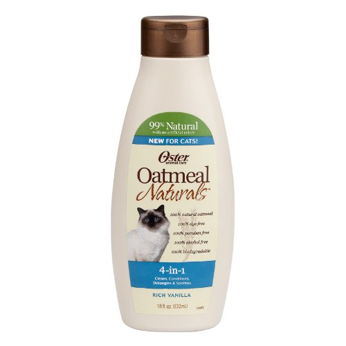 Oster 078590-765 Oatmeal Naturals 4-in-1 Cat Shampoo Plus, 18-Ounce by...