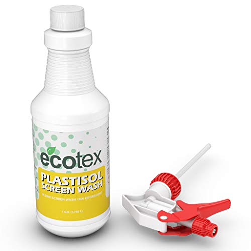 Ecotex PLASTISOL Screen WASH in Sink Screen Wash Ink Degradent for Screen Printing Environmentally Friendly Quart