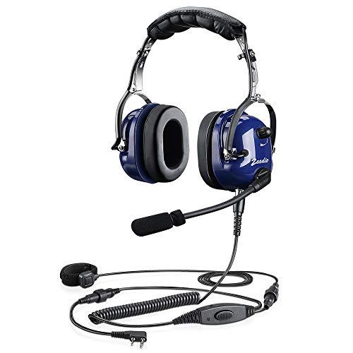 Zeadio Cyanine Militär Antilärm Oben Headset Ohrhörer mit Störschallunterdrückung für 2 PIN Kenwood Baofeng PUXING QUANSHENG WEIERWEI WOUXUN HYT TYT Funkgerät