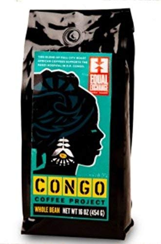 Equal Exchange Organic Congo Project Coffee, Whole Beans, 1 LB