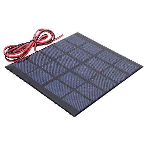 Panel solar de 500 ma, 2,5 (W) 2 mm/0,08 in DC5 (V) Kit de cargador de batería de polisilicio