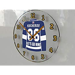 Hockey Legends Wall Clocks - 12 X 12 X 2 N H L Jersey Themed Legend Clock (N.Kucherov 86 TAM Edition)