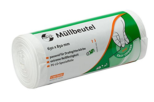 Müllbeutel DEISS FIRST PLUS weiß 70 L, 40-er Pack