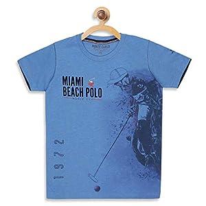 Monte Carlo Boys Printed Regular Fit Blue Coloured Cotton Blend T-Shirt 4 41naPEKUjyL. SS300