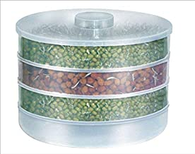 Forcado Sprout Maker   Plastic Sprout maker box   Hygienic Sprout Maker With 4 Container   Organic Home Making Fresh Sprouts Beans for Living Healthy Life Sprout Maker 4 Bowl Sprout Maker For Home Best Quality