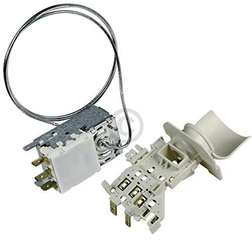 Kühlthermostat Thermostat Ersatz für Ranco K59-S2785 Atea A13-0696R Whirlpool 481228238175 2x4,8mm/1x6,3mm AMP Temperaturregler mit Kapillarrohr 690mm für Kühlschrank Gefrierschrank