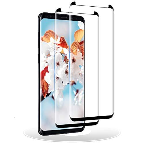 RIIMUHIR Vetro Temperato per Samsung Galaxy S8 Plus, [2 Pezzi] Pellicola Protettiva Compatibile con Samsung Galaxy S8 Plus, Protezione Schermo, Durezza 9H, Senza Bolle, 3D Copertura Completa