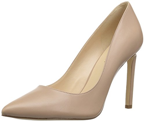Nine West Women's Tatiana Leather Pump, Natural, 8 M US