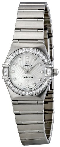 Omega Women's 111.15.23.60.55.001 Mother-Of-Pearl Dial Constellation Watch