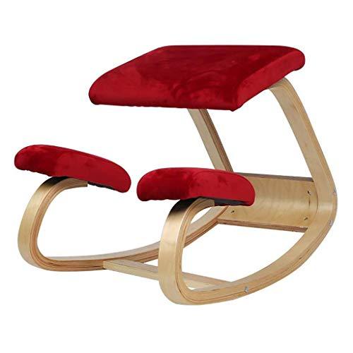 SMGY-YZ Sleekform Kneelingstoel, Verbeter je houding, Hout Schommelende Ergonomische Houten Kniekruk voor Kantoor & Thuis
