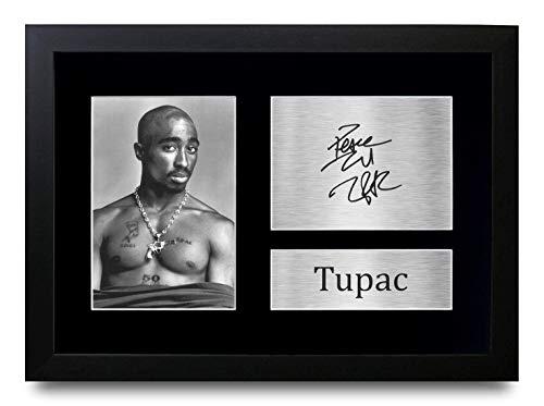 HWC Trading A4 FR Tupac Geschenke gedruckt Autogramm Bild für Music Memorabilia Fans Signed - A4 Eingerahmt