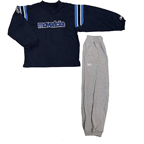 Dallas Mavericks NBA niños Manga Larga para Hombre Set, Azul