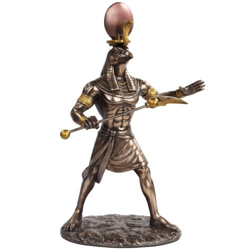 PTC 11 Inch Egyptian Ra Mythological God Bronze Finish Statue Figurine