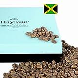 100% Café de las Montañas Azules de Jamaica - Café de grano verde - ¡Uno de los mejores cafés del mundo, salido de la última cosecha! (Caja con 100g/3.5oz)