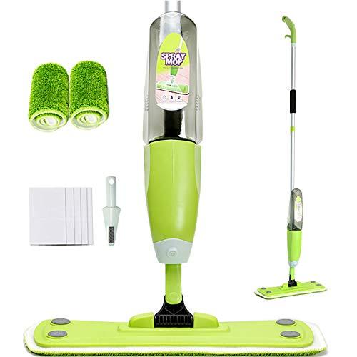 Joywell Bodenwischer mit Integriertem Zerstäuber, Spraywischer Spray Mop Set (Grün)