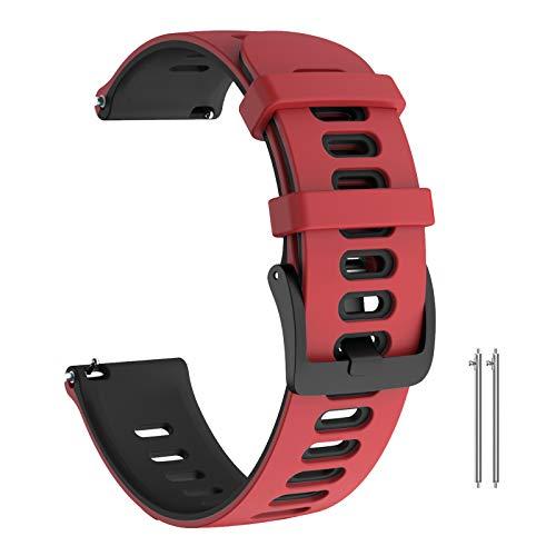 ANBEST 22mm Silikon Armbänder Kompatibel mit Gear S3/Galaxy Watch 46mm/Gear S3 Frontier Armband, Sport Weiches Uhrenarmbänder für Garmin Vivoactive 4/Galaxy Watch 3 45mm