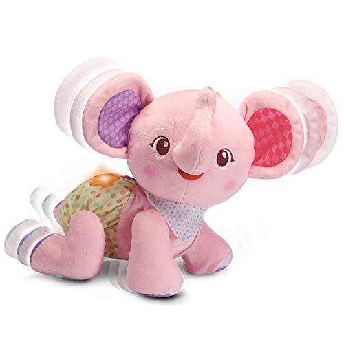 VTech- Krabbel-mit-mir-Elefant Pink bebé, Juguete, motricidad, Ayuda para Gatear. (80-533254)