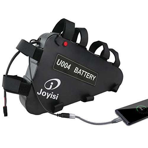 Joyisi 52V 20AH Ebike Battery, Lithium ion Bike Battery with USB Port, 40A BMS Protection Board and Charger for 1500W/1000W/750W/500W Bike Motor Kit