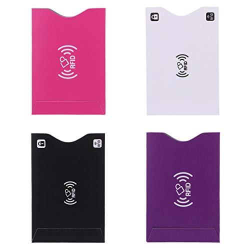 1Pc ID Creditcard Cover RFID-beschermer afgeschermde hoes Zakelijke Bank Kaarten Case Paars