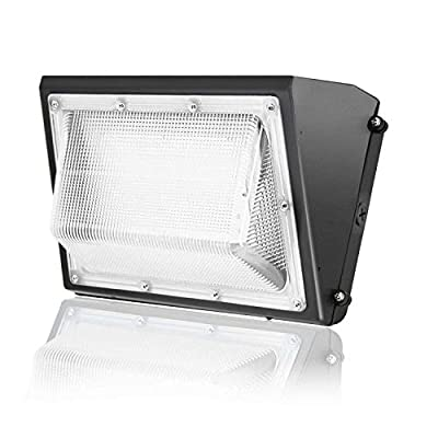 150W LED Wall Pack Light - 5000K Daylight, 19200lm, JESLED Outdoor Waterproof Security Wallpack Fixture, 600-1000 Watt HPS/HID Replacement, AC100-277V Industrial Residential Commercial Lighting Lamp