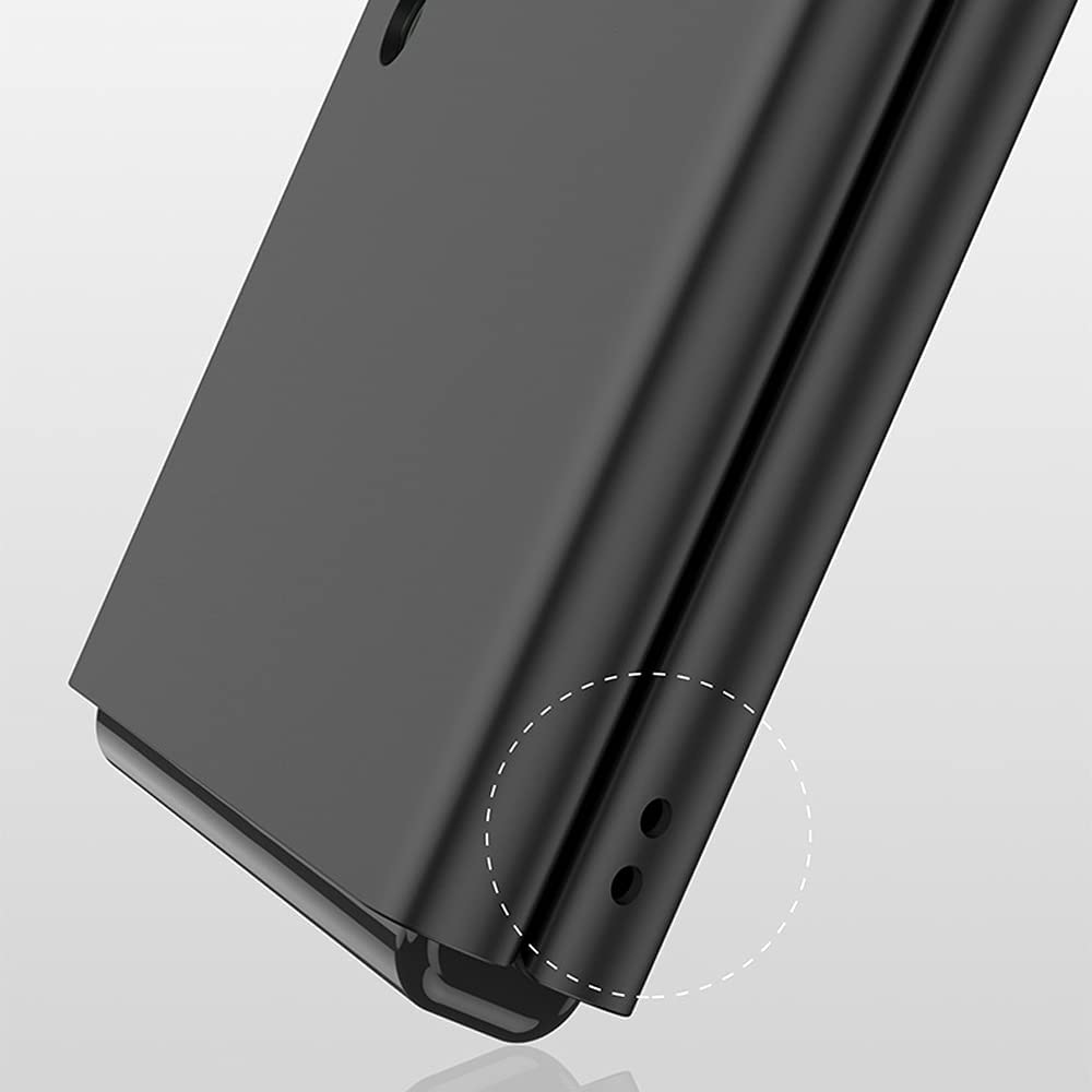 PUROOM for Samsung Galaxy Z Flip 3 Case Ultra Thin Hard PC Matte All-Inclusive Shookproof Case Plastic Fold Cover for Samsung Galaxy Z Flip 3 5G (Black)