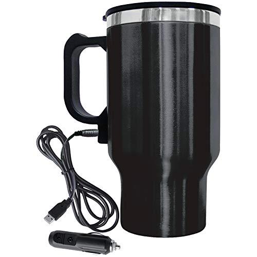 Brentwood CMB-16B Stainless Steel 16oz 12 Volt Heated Travel Mug, Black