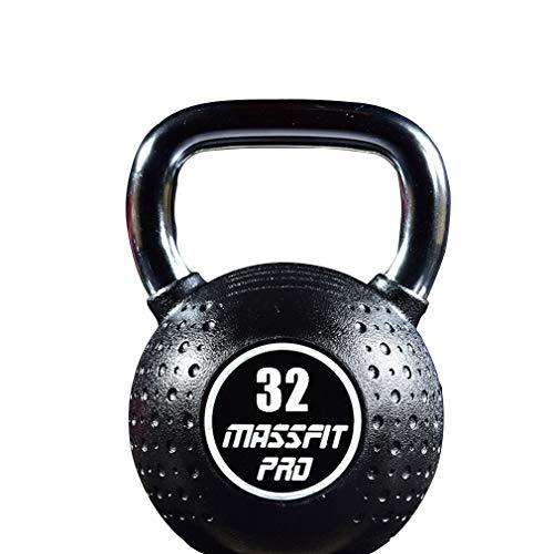 Sports Compket Competition Kettlebell - Peso Sfera in Acciaio, Diversi Pesi (4-32 kg), Maniglia Liscia, Base Appiattita, Indicazione del Peso sulla Kettlebell (重量 : 32KG)