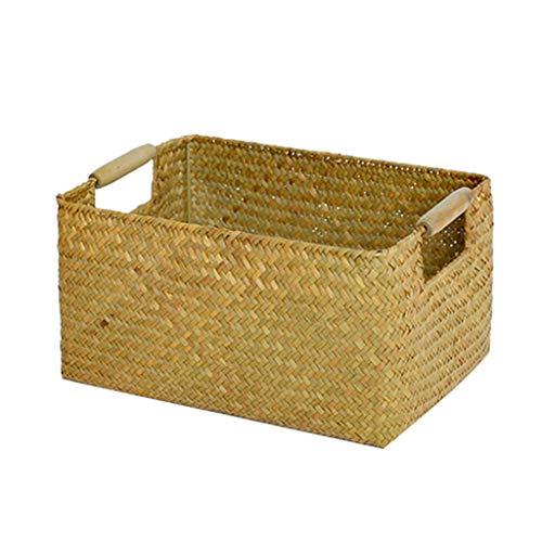 Storage Box Boîte De Rangement, Panier De Rangement De Bureau, Série De Rangement Intérieur pour Le Bureau, Matériel De Sécurité 100% (Color : Yellow, Size : 34cm*25cm*17cm)