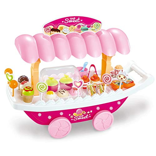 Fantastic Prices! BJLWTQ Kids Pretend Food Toy Ice Cream Candy Cart Shopping Trolley Set Toy Pretend...