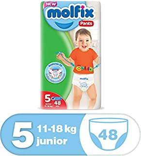 Molfix Anti Leakage Comfortable Junior Baby Diaper Pants, 11-18 kg, 48 Count