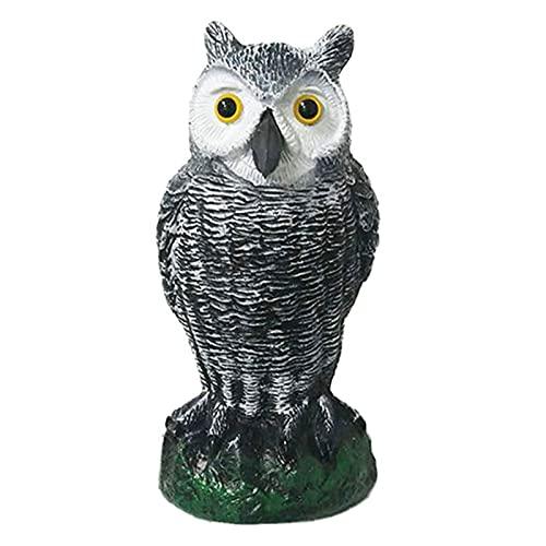 Simulation Owl Garden Statue with Solar LED Light Resin Owl Garden Statue Decoration Suitable for Outdoor Courtyard Garden Decoration