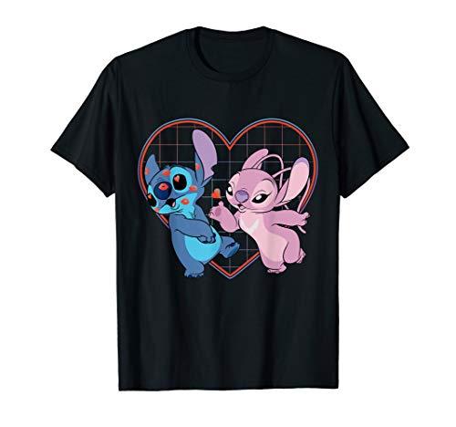 Disney Lilo and Stitch Angel Heart Kisses T-Shirt