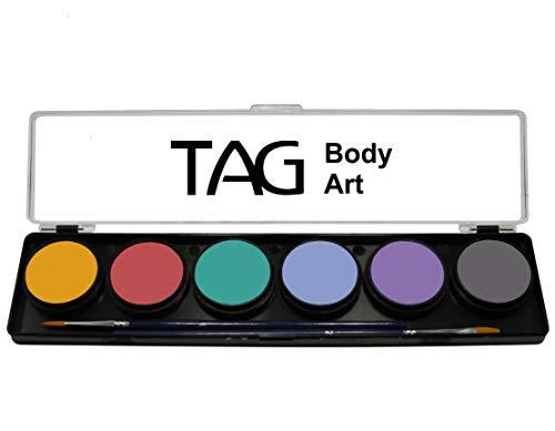 TAG Body Art Paleta de Colores Pastel (6 Colores)