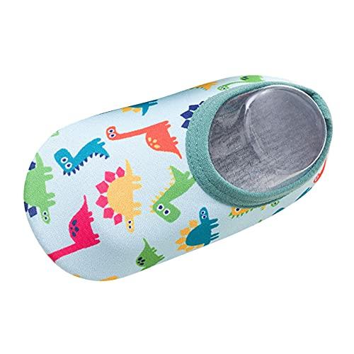 Zapatos de bebé para niños, niñas, antideslizantes, para la playa, estampados, zapatos de baño antideslizantes, suela para bebés, unisex, zapatos para niños pequeños, verde, 23