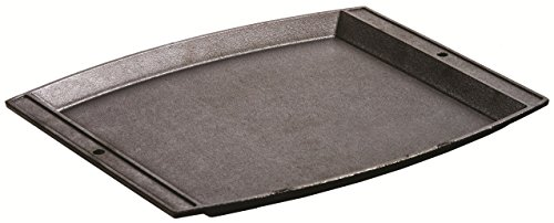 Lodge Seasoned Cast Iron Rectangular Griddle - 15 x 12.25 Inches. Jumbo Chef's Serving Platter