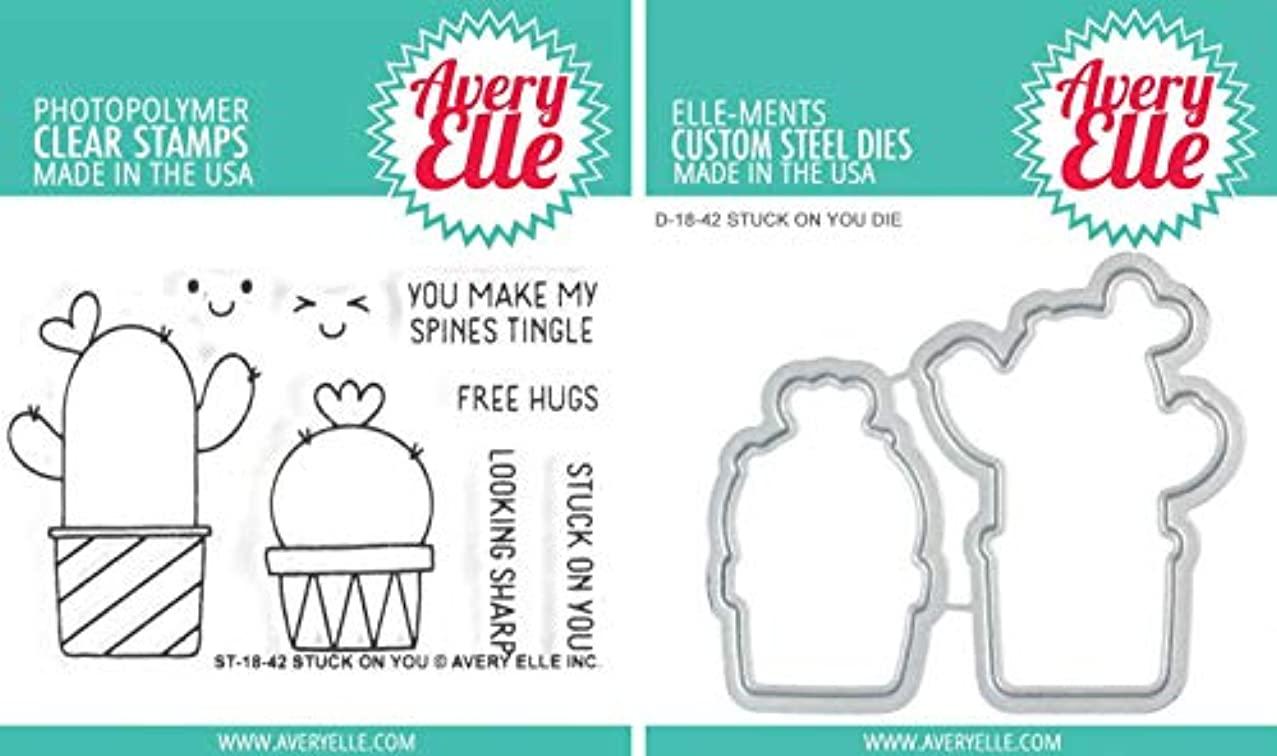 Avery Elle - Stuck on You - Cactus - Clear Stamps and Dies Set