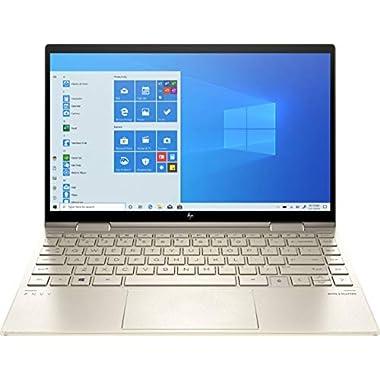 2020 HP Envy x360 2-in-1 13.3″ FHD IPS Touchscreen Laptop Intel Evo Platform 11th Gen Core i7-1165G7 8GB Memory 512GB SSD Pale Gold – Backlit Keyboard -Fingerprint Reader -Thunderbolt – WiFi 6